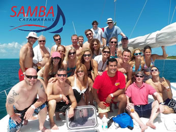 Catamaran tours for groups in Cancun